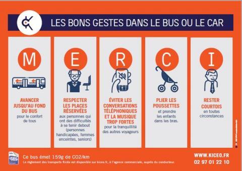 Les bons gestes dans le bus