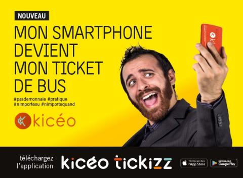 Kicéo Tickizz, l'e-ticket
