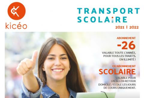 Rentrée 2021 - Inscription aux transports scolaires Kicéo